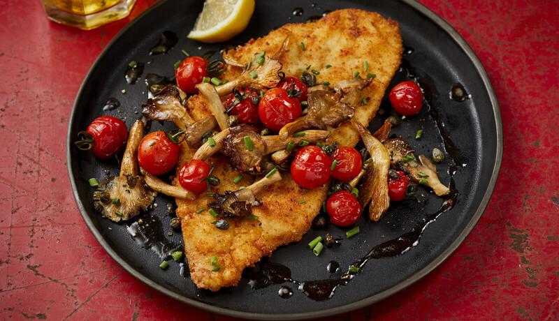 Alaska Flounder Schnitzel With Browned Butter