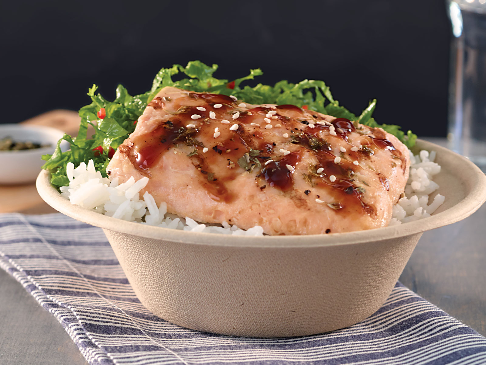 Redi Grilled™ Wild Alaska Salmon Bowl with Tonkatsu Sauce