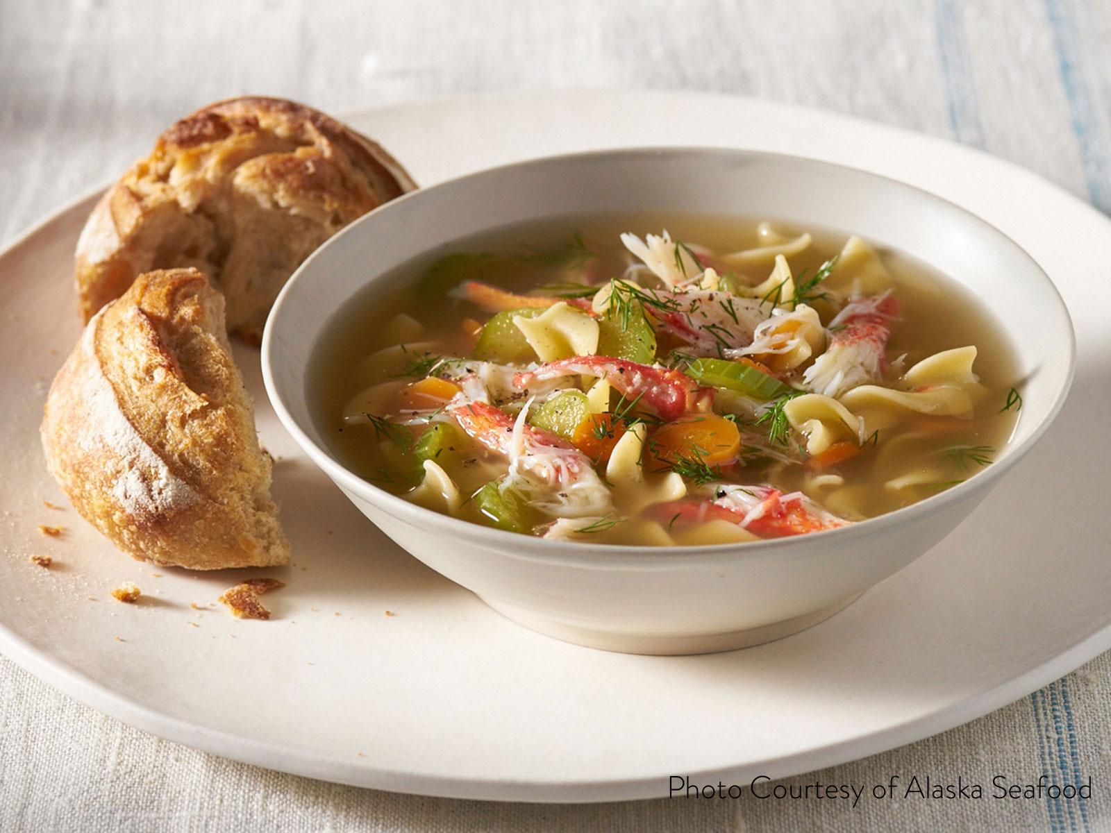 Wild Alaska Snow Crab Noodle Soup